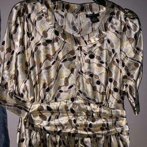 BCBG Maxazria satin blouse size xl